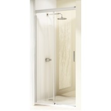 Zástěna sprchová dveře Huppe sklo Design elegance 100x190 cm stříbrná matná/čiré AP