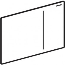 GEBERIT SIGMA 70 ovládací deska 24x15,8cm, sklo, bílá