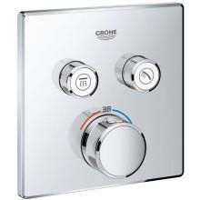 GROHE GROHTHERM SMARTCONTROL termostat pro podomítkovou instalaci 158x43x158mm, s 2 ventily, chrom