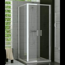 SANSWISS TOP LINE TOPP2 sprchové dveře 1000x1900mm, dvoukřídlé, aluchrom/čiré sklo Aquaperle