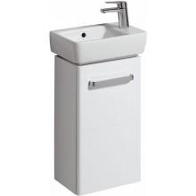 Nábytek skříňka pod umývátko Keramag Renova Nr. 1 Comprimo s otvorem pro baterii vlevo 34,8x60,4x22,2 cm bílá matná/bílá lesklá