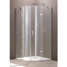 Zástěna sprchová čtvrtkruh - sklo Concept 300 900x1900/R504mm stříbrná lesklá/čiré AP
