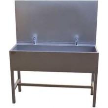 AZP BRNO AUL 02.2 umývací žlab 1900x1500mm, s výtokovými ramínky, s termostatickým ventilem, nerez ocel