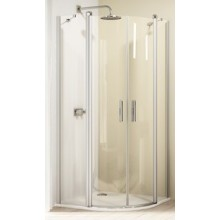 HÜPPE DESIGN 501 ELEGANCE křídlové dveře 1000x1900mm s pevnými segmenty, stříbrná lesklá/čirá anti-plague