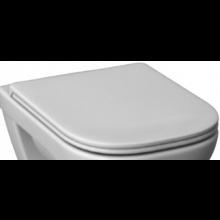 DEEP BY JIKA klozetové sedátko 440x365x50mm, s poklopem, duroplastové, s kovovými úchyty, SLOWCLOSE, bílá