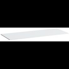 LAUFEN KARTELL BY LAUFEN deska 1200x460x12mm s výřezem vlevo a vpravo, bílá lesklá 4.0772.4.033.631.1
