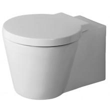 WC závěsné Duravit odpad vodorovný Starck 1 s hlubokým splachováním WG 41x57,5 cm bílá+wondergliss
