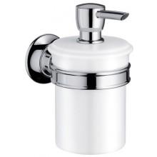 AXOR MONTREUX dávkovač tekutého mýdla 300ml, kartáčovaný nikl/porcelán 42019820