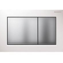 GEBERIT OMEGA 30 ovládací tlačítko 21,2x14,2cm, bílá/chrom mat 115.080.KL.1