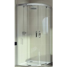 Zástěna sprchová čtvrtkruh Huppe sklo Aura elegance 800x800x1900 mm bílá/čiré AP