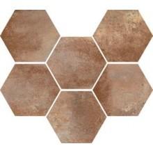 MARAZZI COTTI D'ITALIA dlažba 21x18,2cm, šestihran, marrone