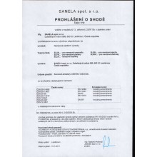SANELA SLZN44L piktogram poštovní schránka, 120x120mm, nerez mat