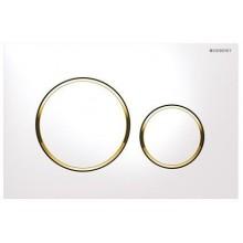GEBERIT SIGMA 20 ovládací tlačítko 24,6x1,2x16,4cm, bílá/pozlacená/bílá
