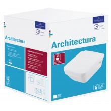 VILLEROY & BOCH ARCHITECTURA set klozet 370x530mm s hlubokým splachováním a sedátko, Bílá Alpin CeramicPlus 5685HRR1