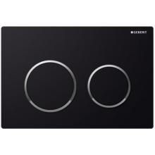 GEBERIT OMEGA 20 ovládací tlačítko 21,2x1x14,2cm, černá/pochromovaná lesklá/černá