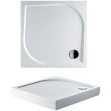 RIHO KOLPING DB21 sprchová vanička 90x90cm čtverec, včetně sifonu a podpěr, litý mramor, bílá