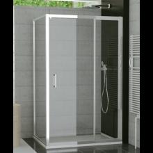 SANSWISS TOP LINE TED sprchové dveře 1400x1900mm, jednokřídlé, s pevnou stěnou v rovině, aluchrom/čiré sklo Aquaperle