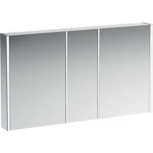 LAUFEN FRAME 25 zrcadlová skříňka 600x150x750mm, s LED osvětlením, hliník