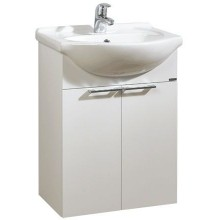 LEBON ELEMENTS B skříňka s umyvadlem 57x30x70cm, závěsná, bílá