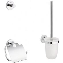 GROHE ESSENTIALS sada doplňků pro toaletu, 3 v 1, sklo/kov, chrom