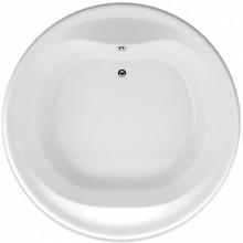 TEIKO BORNEO-O vana 160x49cm, kruhová, akrylát, bílá