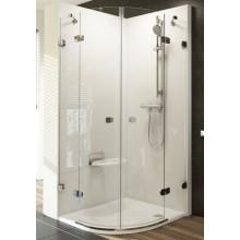 Zástěna sprchová čtvrtkruh Ravak sklo Brilliant BSKK4 1000x1950mm chrom/transparent