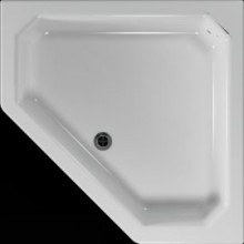 Vanička plastová Teiko pětiúhelník - 90x90x14cm bílá