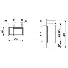 LAUFEN PRO skříňka pod umyvadlo 970x450mm s 1 zásuvkou, se sifonem, bílá