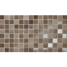 NAXOS URBAN mozaika 25x45cm, fascia city brown 61556