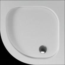 Čtvrtkruhová sprchová vanička PELEUS se vyrábí v provedení s hladkým povrchem.