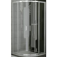 SANSWISS TOP LINE TER sprchové dveře 800x1900mm čtvrtkruhové, s dvoukřídlými dveřmi, bílá/sklo Durlux