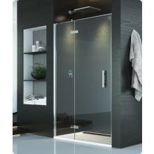 SANSWISS PUR PU13P sprchové dveře 900x2000mm, jednokřídlé, s pevnou stěnou v rovině s vyrovnávacím profilem, panty vlevo, chrom/čiré sklo Aquaperle
