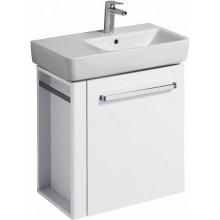 KERAMAG RENOVA NR. 1 COMPRIMO NEW skříňka pod umyvadlo 59x60,4x33,7cm, závěsná, s držákem na ručník vlevo, bílá matná/bílá lesklá 862265000