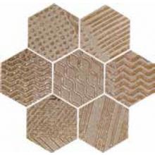 NAXOS RAKU dekor 35,5x37cm, esagona copper