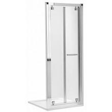 KOLO GEO-6 skládací dveře 800x1900mm do niky nebo pro kombinaci s pevnou boční stěnou nebo rozšiřovacím panelem, stříbrná lesklá/čiré sklo