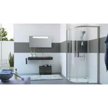 HÜPPE CLASSICS 2 EASY ENTRY B1/B2 posuvné dveře 900x900x200mm stříbrná matná/sklo čiré AntiPlaque