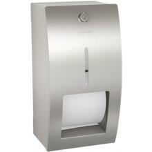 FRANKE STRATOS STRX672 dvojitý držák toaletního papíru 156x141mm nástěnný, hřídelový systém, nerez ocel/InoxPlus