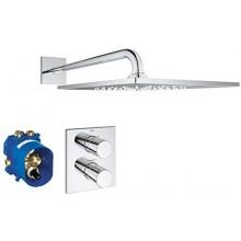 GROHE GROHTHERM 3000 COSMOPOLITAN sprchový set termostatická sprchová baterie DN15, podomítkový termostat, hlavová sprcha a sprchové rameno 422mm, vhodný pro F-Series, chrom
