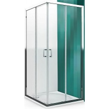 ROLTECHNIK LEGA LINE LLS2/900 sprchový kout 900x1900mm čtvercový, s dvoudílnými posuvnými dveřmi, polorámový, brillant/transparent