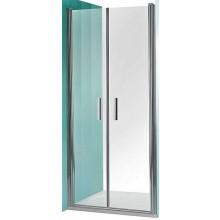 ROLTECHNIK TOWER LINE TCN2/800 sprchové dveře 800x2000mm dvoukřídlé pro instalaci do niky, bezrámové, stříbro/transparent