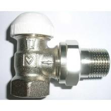 """HERZ TS-90 termostatický ventil 1/2"""" rohový, bez přednastavení"""