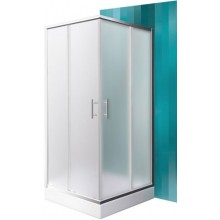 ROLTECHNIK PROJEKT ORLANDO NEO/800 sprchový kout 800x1900mm čtvercový, s posuvnými dveřmi, brillant/matt glass