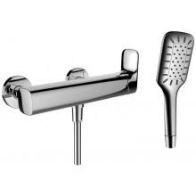 LAUFEN CITYPLUS sprchová nástěnná páková baterie se sprchovou hadicí a ruční sprchou, chrom 3.3175.7.004.136.1