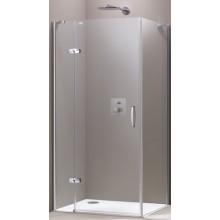 HÜPPE AURA ELEGANCE SW 900 boční stěna 900x1900mm, 4-úhelník, stříbrná matná/sklo čiré Anti-Plaque