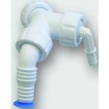 """OTTO HAAS dvojité kolínko 1""""/3/4"""", připojení sifonu-kondenzát/vodní spotřebič, PP"""