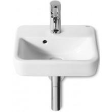 ROCA SENSO SQUARE umývátko 350x280mm s otvorem, s instalační sadou, bílá MaxiClean 732751D00M