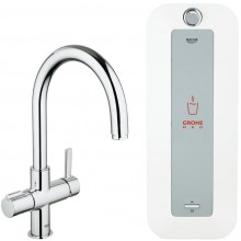 GROHE RED DUO baterie a kombinovaný bojler 226mm, 8l, chrom