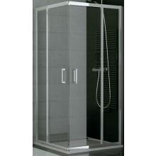 SANSWISS TOP LINE TOPAC sprchové dveře 900x1900mm, dvoudílné posuvné, rohový vstup, bílá/sklo Durlux