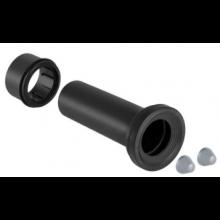 GEBERIT MONOLITH přímé hrdlo ø90mm pro závěsné WC, PE-HD, černá