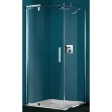 Zástěna sprchová dveře Huppe sklo Refresh pure 1200x1943mm stříbrná matná/čiré AP
